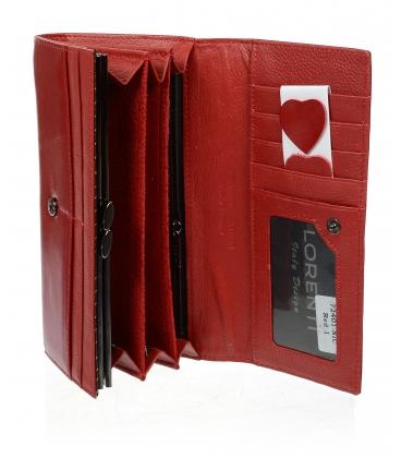 Dámska červená kožená peňaženka 72401 NIC-RED