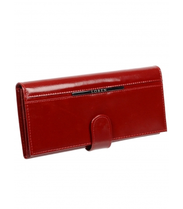 Női piros bőr pénztárca JP515NIC-RED