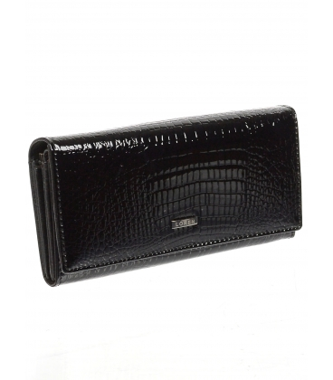 Dámská černá kožená peněženka 64003RS-BLACK