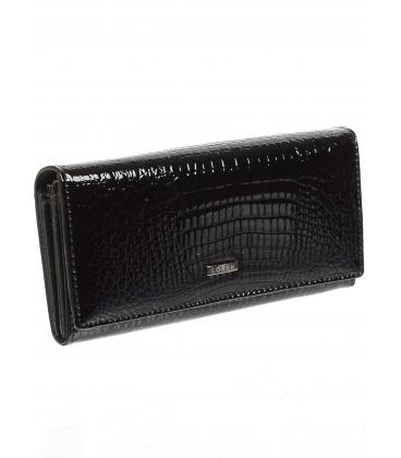 Dámska čierna kožená peňaženka 64003RS-BLACK