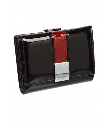 Dámska čierna kožená lakovaná peňaženka 1509SH-BLACK