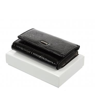 Női fekete bőr pénztárca 55282 RS-BLACK
