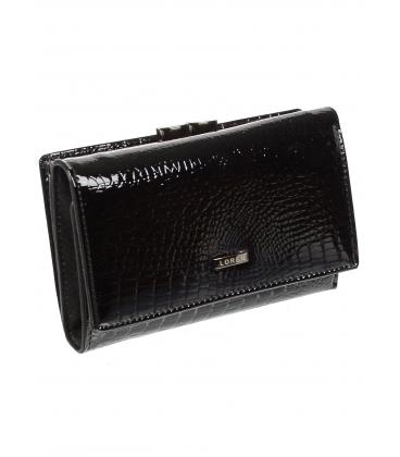 Női fekete bőr pénztárca 55020 RS-BLACK