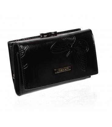 Női fekete bőr pénztárca 55020 EBF-BLACK