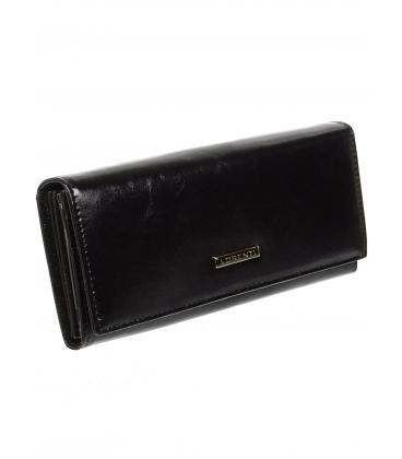Női fekete bőr pénztárca 72401NIC-BLACK