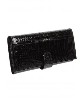 Női fekete bőr pénztárca JP515RS-BLACK