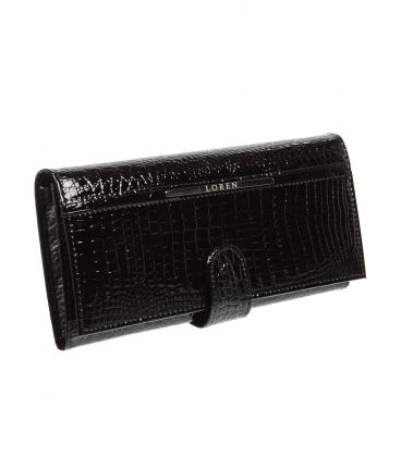 Dámská černá kožená peněženka JP515RS-BLACK