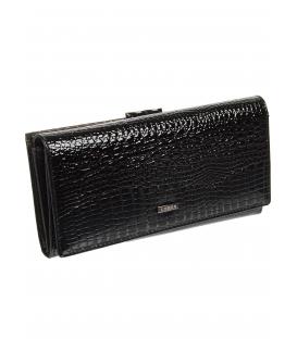 Dámska čierna kožená peňaženka s kroko efektom 72031 RS-BLACK