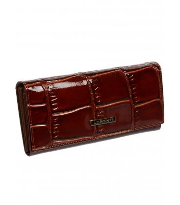 Dámska hnedá kožená peňaženka s kroko efektom 72401KR-BROWN