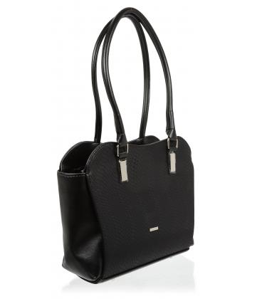 Čierna elegantná kabelka s hadím vzorom V18SM055BLC-GROSSO
