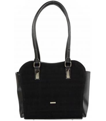 Černá elegantní kabelka V18SM055BLC-GROSSO