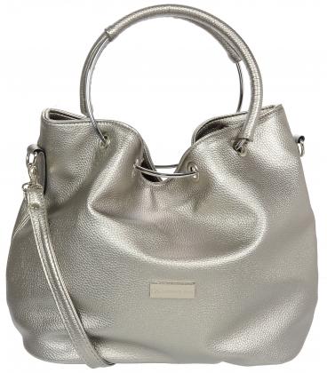 Stříbrná kabelka V18SM053SLV - GROSSO