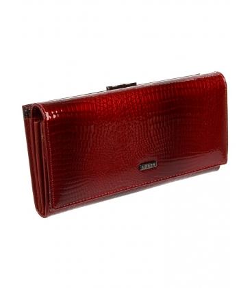 Női fekete bőr pénztárca 72031-RS red