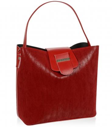 Červená elegantná kabelka V18SM078RED - GROSSO