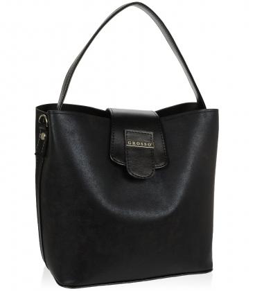 Čierna elegantná kabelka V18SM078BLC - GROSSO