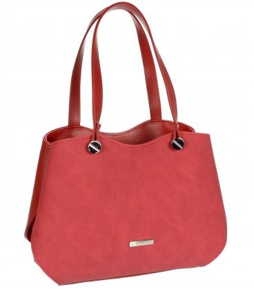Červená elegantná kabelka V18SM079RED - GROSSO