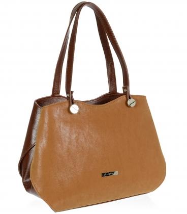 Světle-hnědá elegantní kabelka V18SM079BRW - GROSSO