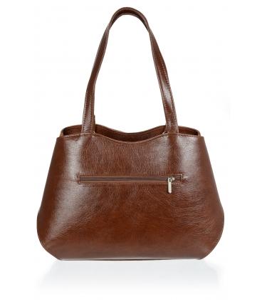 Svetlo-hnedá elegantná kabelka V18SM079BRW - GROSSO