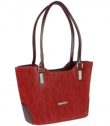 Bordó elegantní kabelka V18SM081BRD - GROSSO