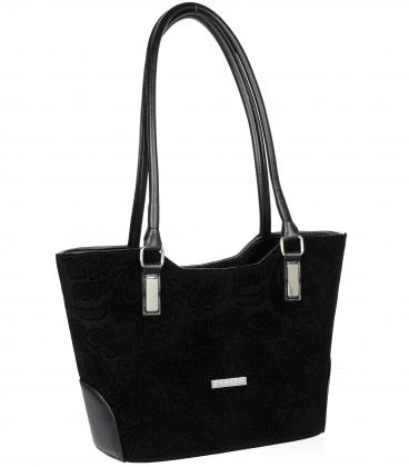 Čierna elegantná kabelka V18SM081BLC - GROSSO