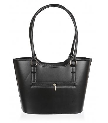 Strieborno - čierna elegantná kabelka V18SM073SLV - GROSSO
