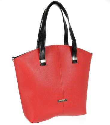 Červená prostorná kabelka V18SM082RED - GROSSO