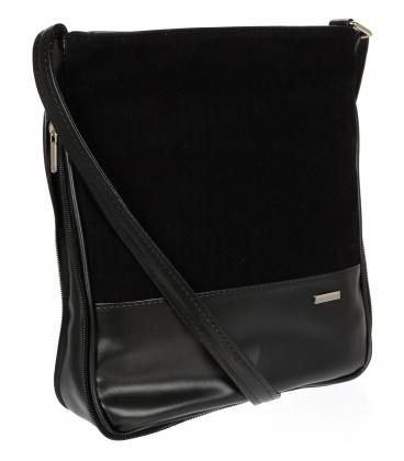 Čierna crossbody kabelka C18SZ003BLC -GROSSO