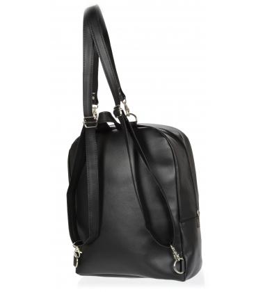 Čierny batoh so striebornými hviezdičkami B18SM068BLC - GROSSO