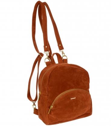 Oranžový semišový batoh B18SZ068ORG - GROSSO
