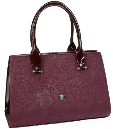 Bordová elegantná kabelka V18SM047BRD - GROSSO