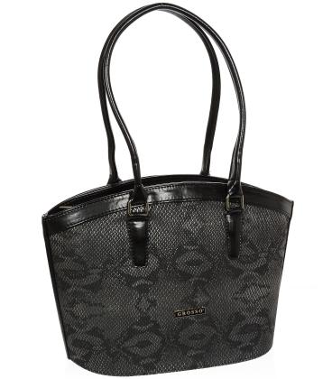 Černá elegantní kabelka V18SM066BLC - GROSSO
