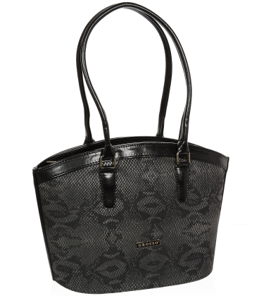 Čierna elegantná kabelka V18SM066BLC - GROSSO