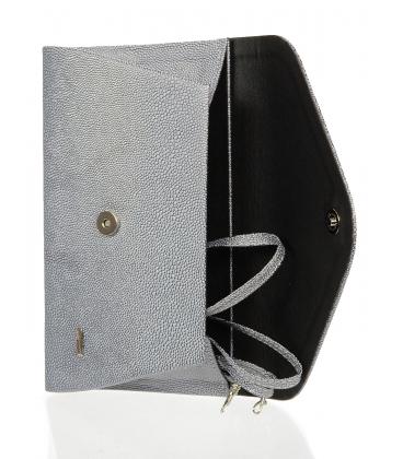 Strieborná listová kabelka S18SM004SLV - GROSSO