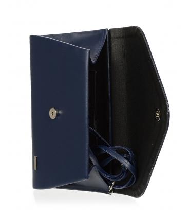 Tmavomodrá listová kabelka S18SM004BLU - GROSSO