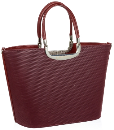 Bordová elegantná kabelka V18SM002BRD - GROSSO