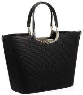 Čierna elegantná kabelka V18SM002BLC - GROSSO