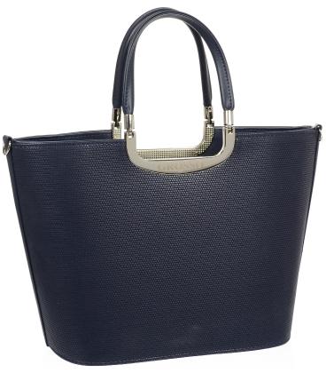 Tmavomodrá elegantní kabelka V18SM002BLU - GROSSO