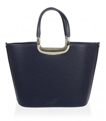 Tmavomodrá elegantná kabelka V18SM002BLU - GROSSO
