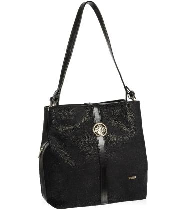 Fekete glitter kézitáska V18SM065BLC - GROSSO