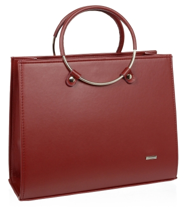 Červená elegantní kabelka V18SM083RED - GROSSO