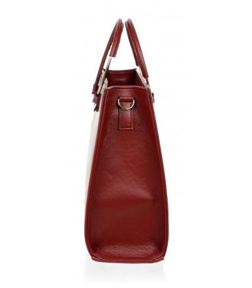 Červená elegantná kabelka V18SM083RED - GROSSO