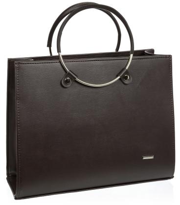 Čokoládovo hnedá elegantná kabelka V18SM083BRW - GROSSO