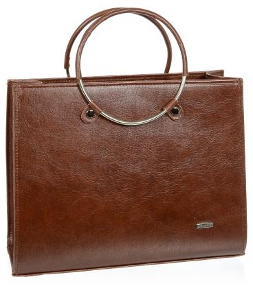 Hnědá elegantní kabelka V18SM083BRW - GROSSO