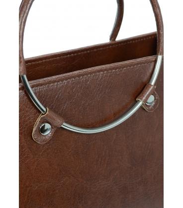 Hnedá elegantná kabelka V18SM083BRW - GROSSO