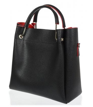 Černo - červená elegantní kabelka V18SM085BLC - GROSSO