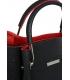 Fekete - vörös elegáns kézitáska V18SM085BLC - GROSSO