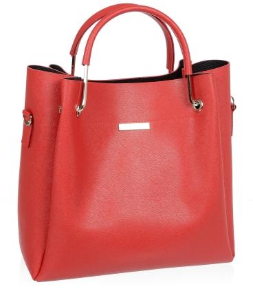 Červená elegantní kabelka V18SM085RED - GROSSO