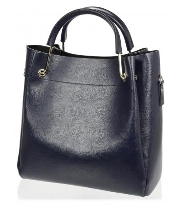 Tmavomodrá elegantná kabelka V18SM085BLU - GROSSO
