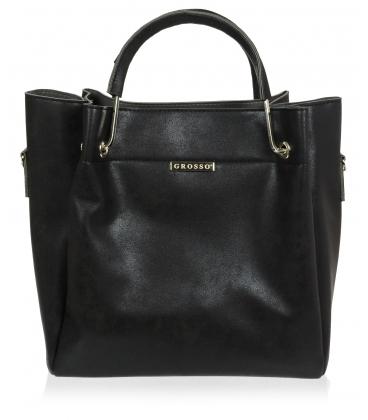 Čierna elegantná kabelka V18SM085BLC - GROSSO