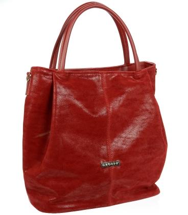 Bordově-červená elegantní kabelka V18SM042BRD - GROSSO